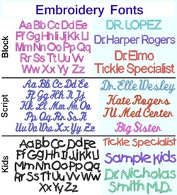 Kids Science Lab Coat Embroidery Fonts