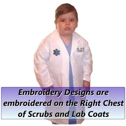 Kids Lab Coat Embroidery Designs