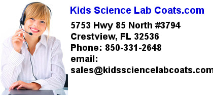 Kids Science Lab Coats Location